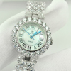 43.02 G. 925 Sterling Silver Womens Wristwatch 7 Inch. Round CZ Luxury for Gift