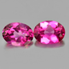 2.88 Ct. Oval Shape Matching Pair Natural Gemstone Pink Topaz  From Brazil