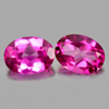 2.82 Ct. Oval Shape 8 x 6 Mm. Natural Gemstone Clean Pink Topaz Matching Pair